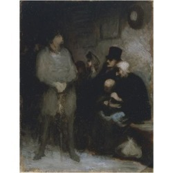 Giclee Print: The Waiting Room, 1850, by Honore Daumier (1808-1879), Oil on Paper, 30X24 Cm. France, 19th Century by Honore Daumier: 24x18in