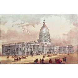 Giclee Print: United States Capitol, Washington D.C. Art Print: 24x18in