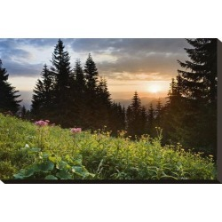 Stretched Canvas Print: Sunset in the National Park Berchtesgadener Land, Upper Bavaria, Bavaria, Germany: 15x22in found on Bargain Bro Philippines from Art.com for $89.00