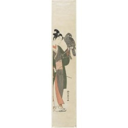 Giclee Print: Falconer, 1769-1770 by Suzuki Harunobu: 24x8in found on Bargain Bro from Art.com for USD $19.00