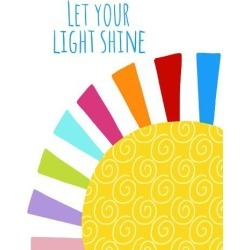 Art Print: Let Your Light Shine by Lisa Nohren: 24x18in