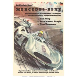 Art Print: Mercedes Benz - Grand Prix of Berlin - Formula One Racing by Hans Liska: 19x13in found on Bargain Bro Philippines from Art.com for $20.00
