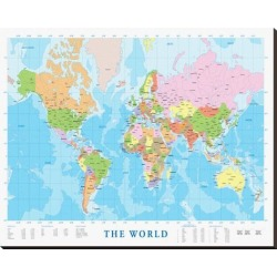 Stretched Canvas Print: Modern Map of the World: 35x44in found on Bargain Bro India from Art.com for $200.00