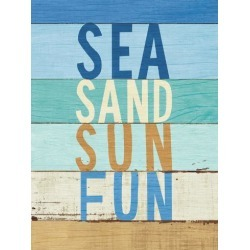 Art Print: Beachscape Inspiration Viii by Wild Apple Portfolio: 32x24in