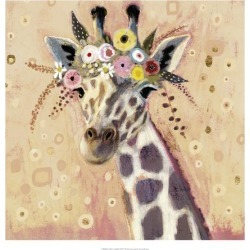 Art Print: Klimt Giraffe I by Victoria Borges: 20x20in found on Bargain Bro Philippines from Art.com for $30.00