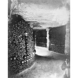 Art Print: Paris, 1861 - View in the Catacombs by Gaspard Felix Tournachon: 24x20in found on Bargain Bro India from Art.com for $22.00