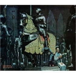 """Giclee Print: """"Armor"""", November 3,1962 Art Print by Norman Rockwell by Norman Rockwell: 16x16in"""