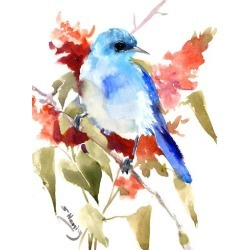 Giclee Print: Mountain Bluebird 2 by Suren Nersisyan: 24x18in found on Bargain Bro from Art.com for USD $51.67