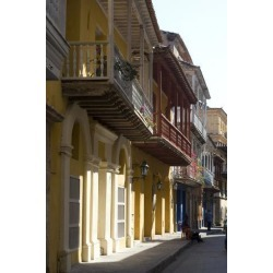 Photo: Balcony Perspective of Residential Houses in Cartagena De Indias, Colombia by Natalie Tepper: 24x16in