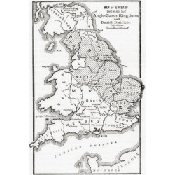 Giclee Print: Map of England Showing the Anglo-Saxon Kingdoms and Danish Districts in the First Century. from Cas: 24x18in found on Bargain Bro from Art.com for USD $19.00
