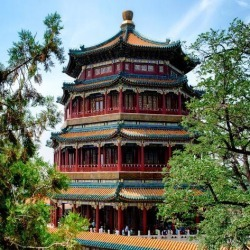 Photographic Print: China 10MKm2 Collection - Summer Palace Temple by Philippe Hugonnard: 16x16in