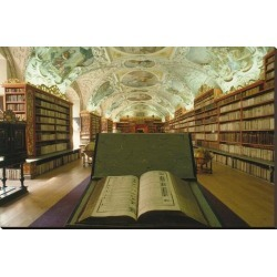 Stretched Canvas Print: Theological library, Strahov Abbey, Prague, Central Bohemia, Czech Republic: 36x54in found on Bargain Bro Philippines from Art.com for $236.00