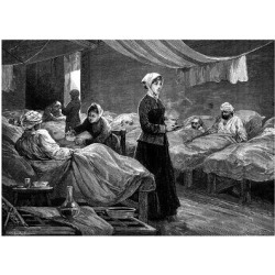 Giclee Print: Florence Nightingale in the Barrack Hospital at Scutari, C1880: 24x18in found on Bargain Bro India from Art.com for $25.00