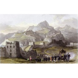 Art Print: Great Wall China by Thomas Allom: 24x16in
