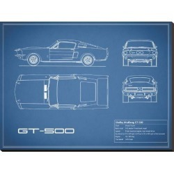 Stretched Canvas Print: Shelby Mustang GT500-Blue by Mark Rogan: 30x40in found on Bargain Bro from Art.com for USD $117.80