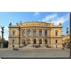 Stretched Canvas Print: Rudolfinum in the Old Town of Prague, Central Bohemia, Czech Republic: 20x29in found on Bargain Bro Philippines from Art.com for $122.00