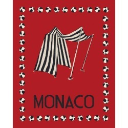 Stretched Canvas Print: Vintage Monaco - Rouge by Loft Studio: 28x22in found on Bargain Bro Philippines from Art.com for $205.00