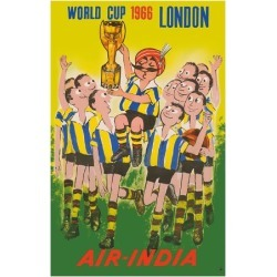 Premium Giclee Print: 1966 World Cup London, England - Air India - Maharaja Soccer Player by Pacifica Island Art: 32x24in