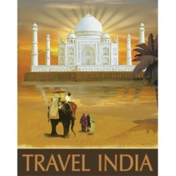 Art Print: Travel India by Kem Mcnair: 37x30in