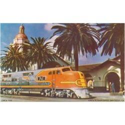 Art Print: Train Station, San Diego, California Poster: 24x18in