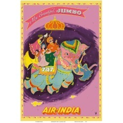 Art Print: My Beautiful Jumbo - Boeing 747 Jumbo Jet - Air India by Pacifica Island Art: 19x13in