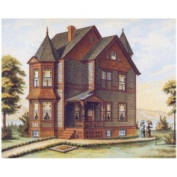 Art Print: Victorian House, No. 11: 12x16in