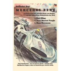 Premium Giclee Print: Mercedes Benz - Grand Prix of Berlin - Formula One Racing by Hans Liska: 36x24in found on Bargain Bro Philippines from Art.com for $100.00