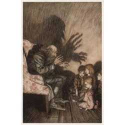 Giclee Print: Spooky Stories by Arthur Rackham: 24x16in found on Bargain Bro Philippines from Art.com for $30.00