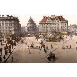 Photographic Print: Looking Towards the Central Railway Station in Munich, Pub. C.1895: 24x18in