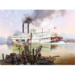 Giclee Print: American Steamboat Gordon C. Greene by Jack Woodson: 24x18in found on Bargain Bro India from Art.com for $30.00