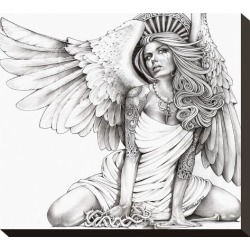 Stretched Canvas Print: Crying Angel Canvas Print by Mouse Lopez: 11x13in