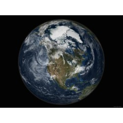 Photographic Print: Full Earth View Showing North America Poster by Stocktrek Images: 24x18in