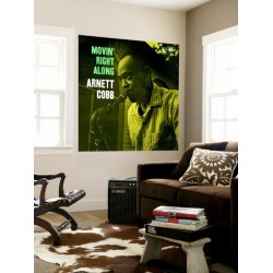 Wall Mural: Arnett Cobb - Movin' Right Along Wall Decal: 48x48in