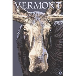 Art Print: Vermont - Moose Up Close Wall Art by Lantern Press: 24x18in found on Bargain Bro India from Art.com for $35.00
