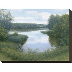 Stretched Canvas Print: Summer Inlet Canvas Print by Arzt: 9x12in found on Bargain Bro India from Art.com for $49.00