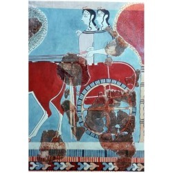 Giclee Print: Minoan chariot-riders from Knossos. Artist: Unknown: 18x12in