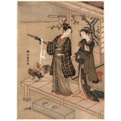 Giclee Print: Engawa No Wakai Danjo by Suzuki Harunobu: 24x18in found on Bargain Bro India from Art.com for $25.00