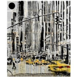 Giclee Print: Somewhere in New York City by Loui Jover: 16x14in