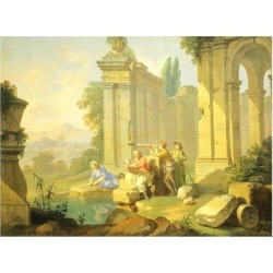 Giclee Print: Senses, Sight, 1751 by Giuseppe Zocchi: 24x18in