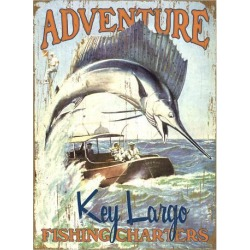 Giclee Print: Key Largo Fishing Charters: 44x32in found on Bargain Bro India from Art.com for $169.99