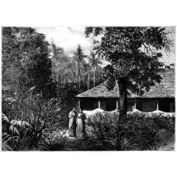 Giclee Print: Dutch House in Ternate, Indonesia, 19th Century by Mesples: 24x18in