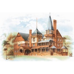 Art Print: Victorian House, No. 19: 18x24in