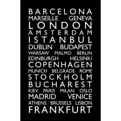 Art Print: Europe Cities Bus Roll Art Print by Michael Tompsett: 18x12in found on Bargain Bro India from Art.com for $15.00