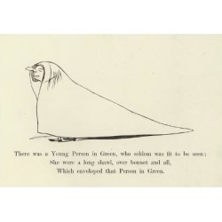 Giclee Print: There Was a Young Person in Green, Who Seldom Was Fit to Be Seen by Edward Lear: 24x16in