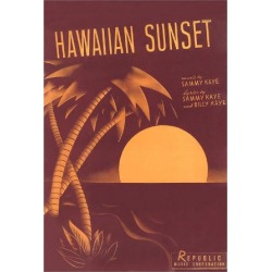 Art Print: Sheet Music for Hawaiian Sunset Poster: 24x18in