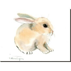 Stretched Canvas Print: Bunny by Suren Nersisyan: 36x48in found on Bargain Bro India from Art.com for $160.00