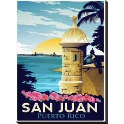 Stretched Canvas Print: San Juan, Puerto Rico by Matthew Schnepf: 22x16in found on Bargain Bro from Art.com for USD $46.36