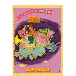 Premium Giclee Print: My Beautiful Jumbo - Boeing 747 Jumbo Jet - Air India by Pacifica Island Art: 16x12in