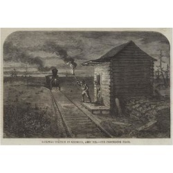 Giclee Print: Railway Station in Georgia, America: 24x16in