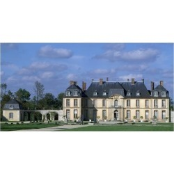 Giclee Print: South Facade of Chateau De La Motte-Tilly by Francois Nicolas Lancret: 24x16in found on Bargain Bro India from Art.com for $25.00